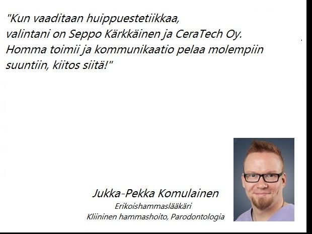 Jukka-Pekka Komulainen Erikoishammaslääkäri